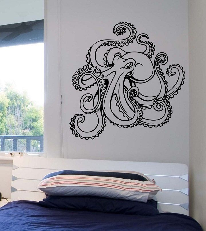 Octopus Wall Decal Version 2 Vinyl Sticker Art Decor