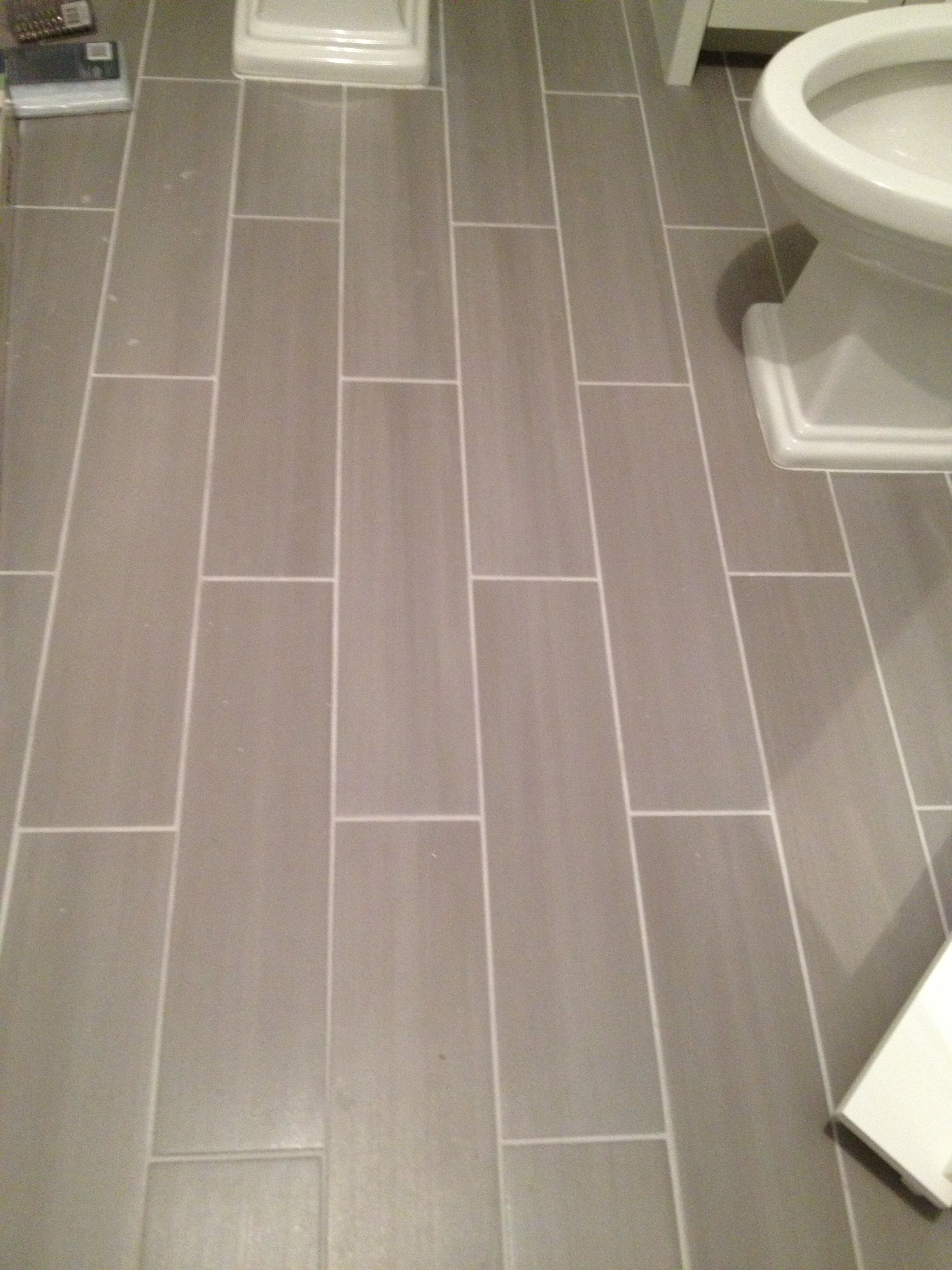 Grey Floor Tiles Bathroom Guest Bath Plank Style Floor Tiles In Gray Sarah