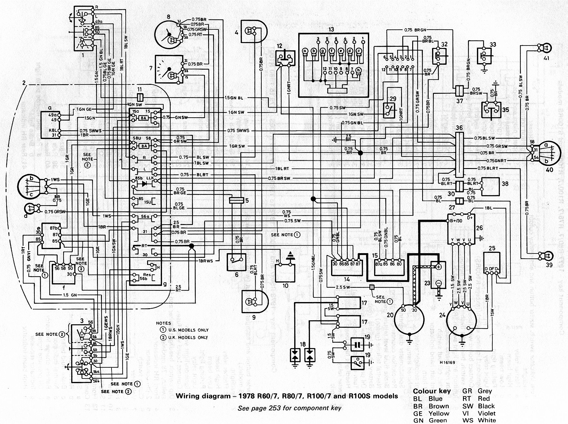 bmw r100 wiring diagram