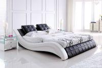 Super modern leather queen bed | Cheap furniture, Queen ...