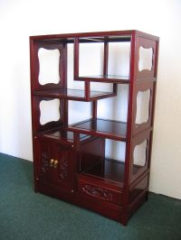 Rosewood Curio Cabinet, Oriental, Ming Dynasty style ...