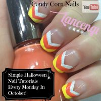 Easy Halloween Nail Art Designs -Candy Corn Nails 2014 ...