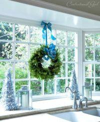 hang wreath above kitchen sink