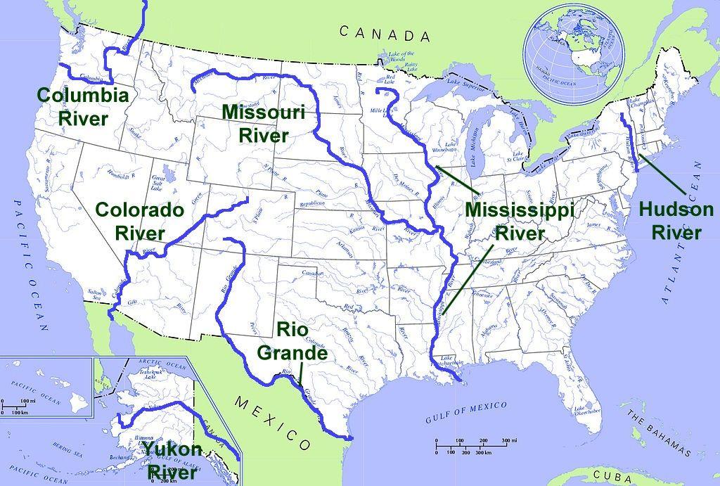 India River Map Quiz - Us rivers map quiz