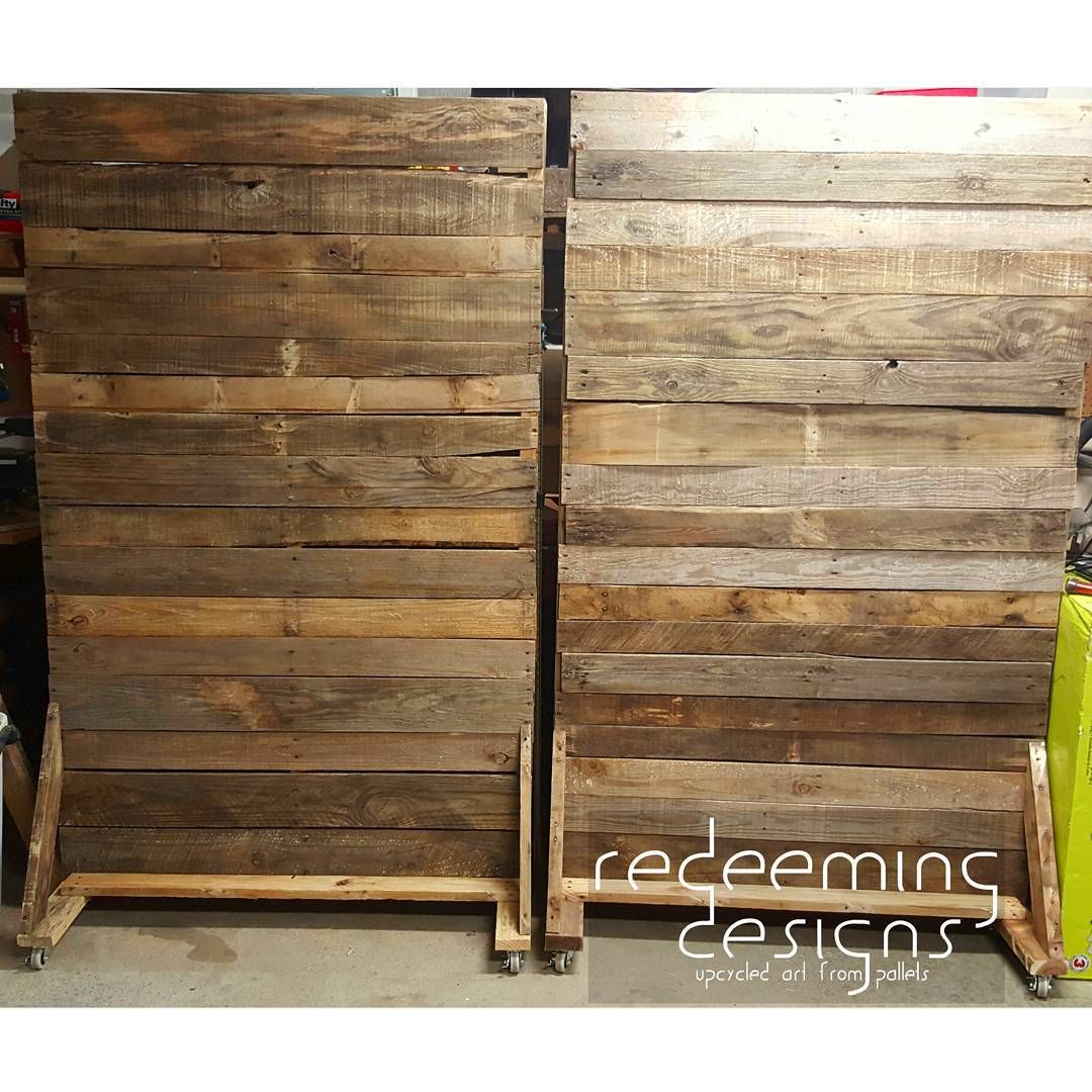 Movable Wooden Partition More Rolling Pallet Walls In Production You Can See