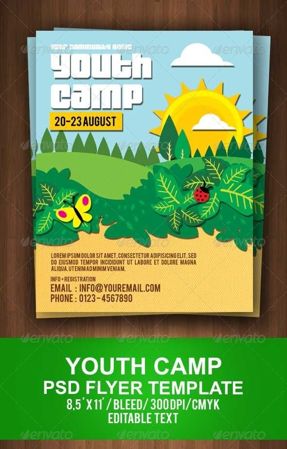 Youth Camp Flyer Template Youth camp, Flyer template and Event - camp flyer template