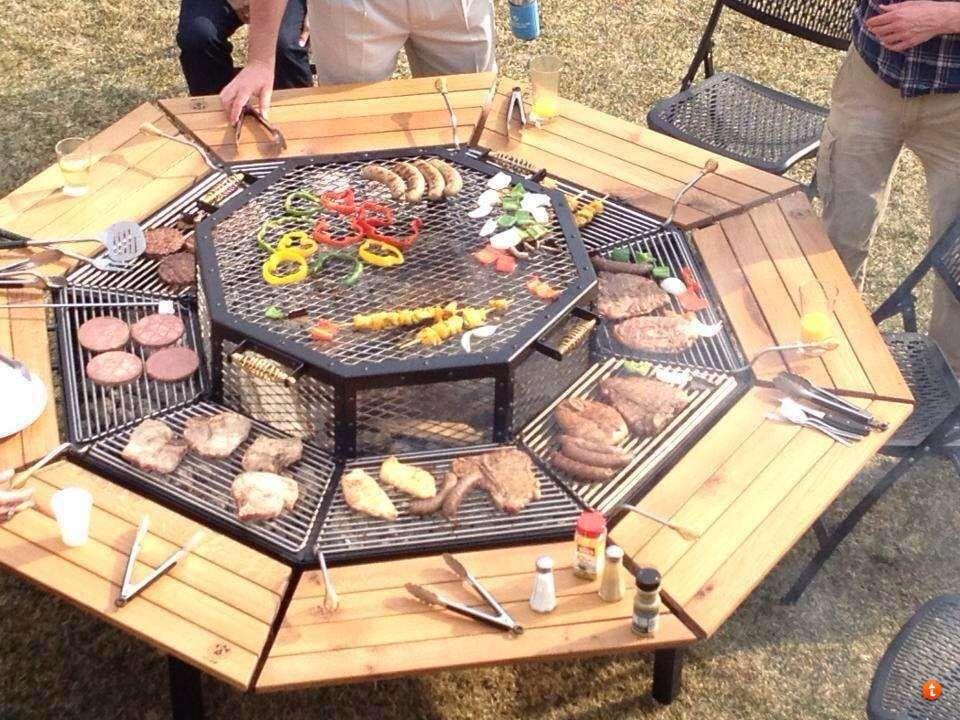 Cowboy Grill Fire Pit Fire Pit Pinterest Cowboy grill, Fire - kuche im garten balkon grill