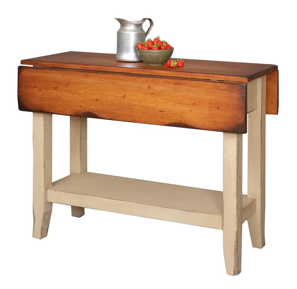 country kitchen tables Primitive Kitchen Island Table Small Drop Side Farmhouse Country Farm Furniture
