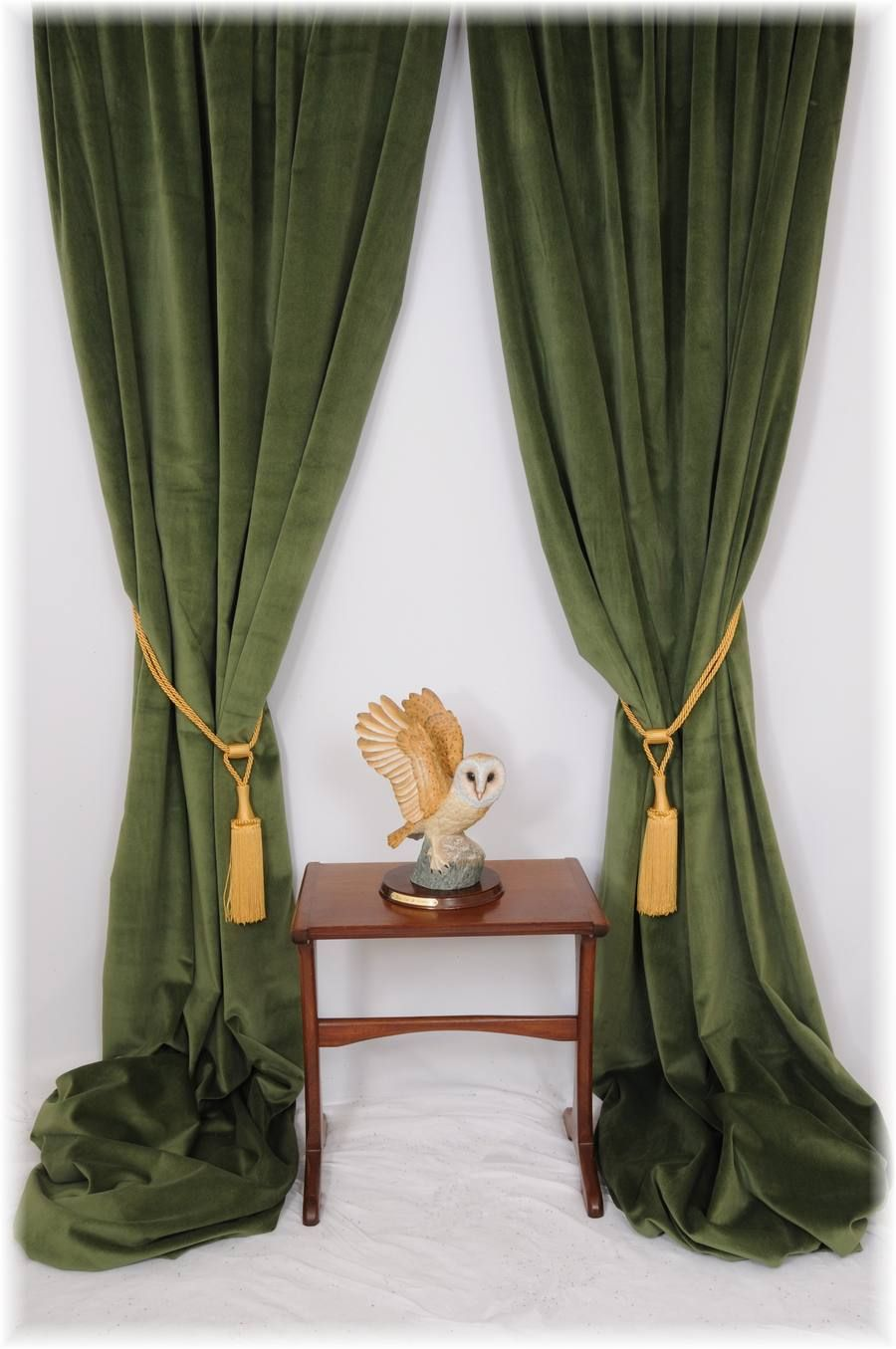 Details about superb forest spruce green velvet curtains bespoke service all sizes mtm