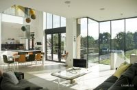 Dining room, Floor to ceiling windows, Kitchen, Living ...