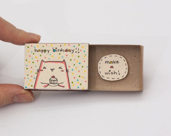 Surprise Birthday Card Matchbox Gift Box Make A Wish By