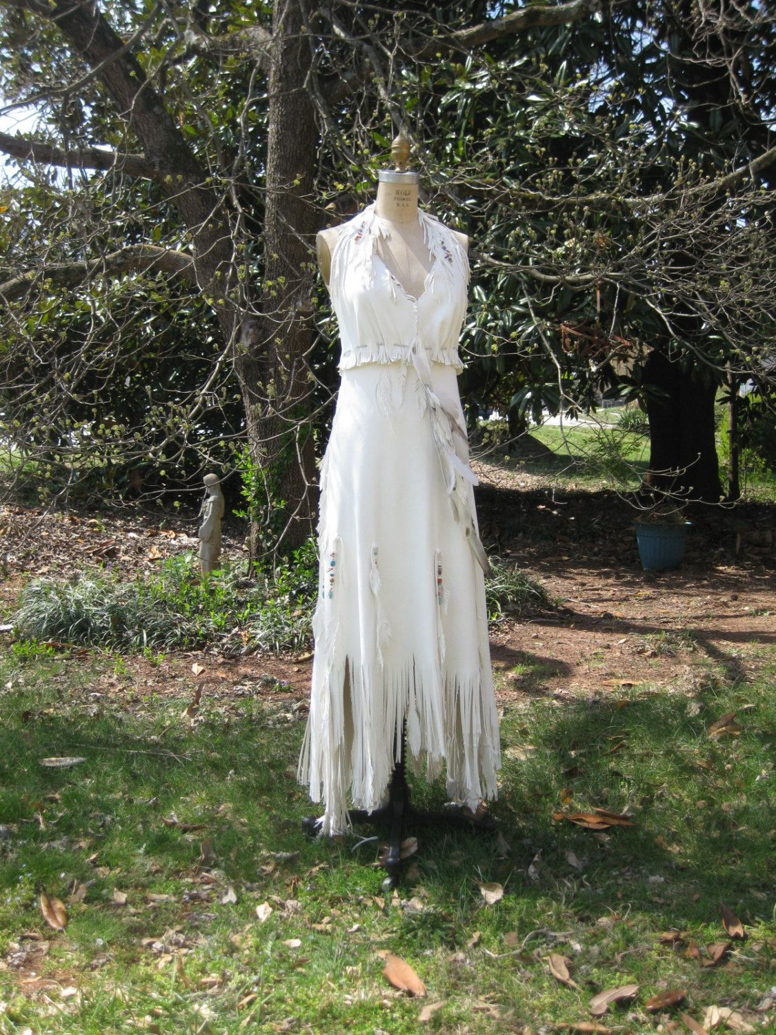 leather wedding dress White Leather Wedding Dress Native American By Hippiebride On Etsy Wedding Interest