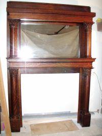 Antique quartersawn oak fireplace mantle | Fireplace ...