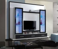 Amish Flat Screen TV Wall Unit Entertainment Center ...