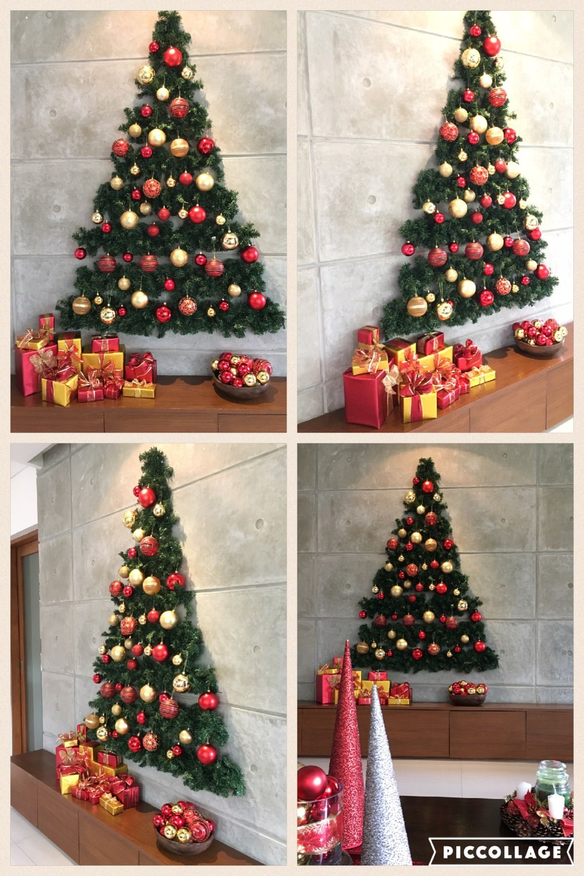 Outdoor Wall Christmas Decorations Flat Wall Christmas Tree Christmas Decor Pinterest