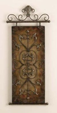 TUSCAN Emossed Metal Canvas Wall ART Plaque DECOR by Yuma ...