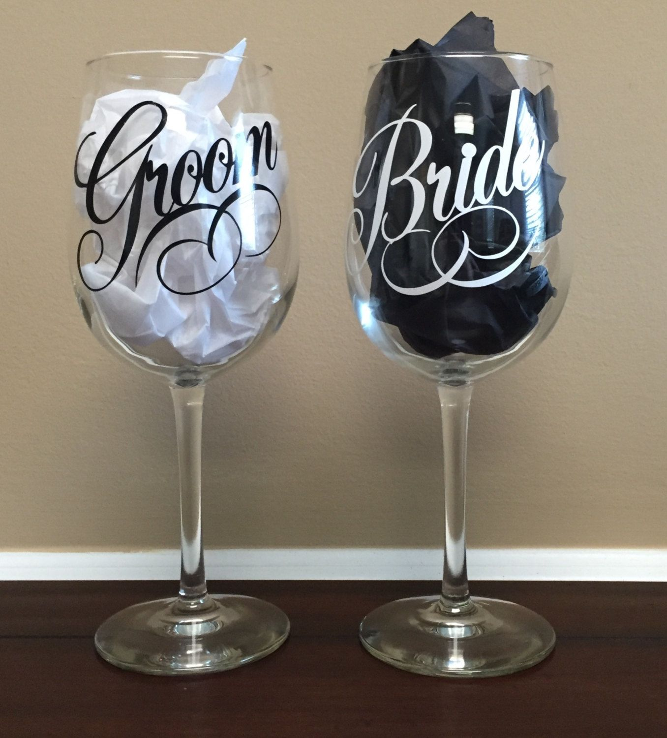 Diy Wedding Champagne Glasses Ideas Personalized Bride And Groom Wine Glasses By 5throwsouth