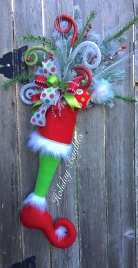 Grinch Stocking Door Hanger by Holiday Baubles | Trendy ...