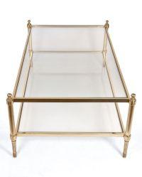 Maison Jansen Brass and Glass Coffee Table | Modern coffee ...