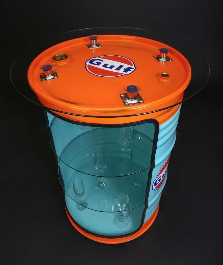 ... Gulf Retro Design Vintage Fassmöbel,Ölfass Regal,Vitrine   Designer  Mobel Bucherregal ...
