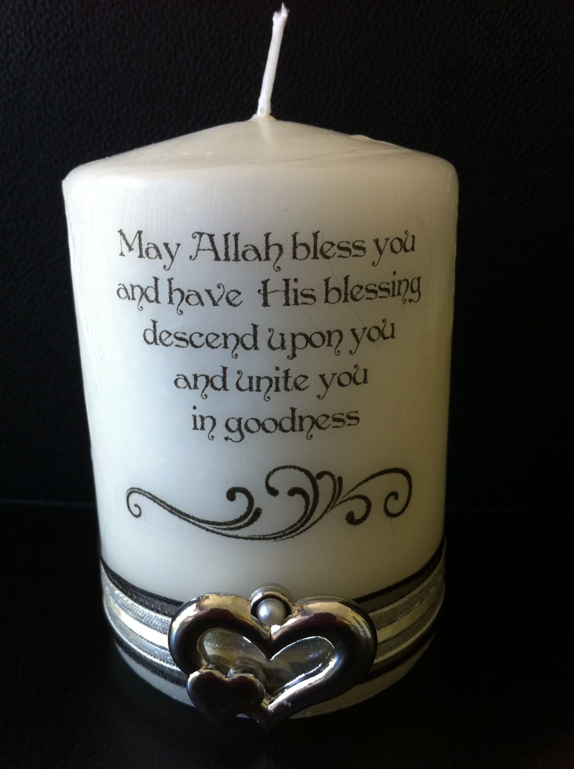 Hochzeit Islam Nikah Candle Muslim Wedding Personalised Beautiful