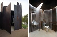 An outdoor restroom to be seen as something beautiful as ...
