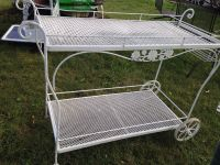 Woodard Wrought Iron Patio Serving Cart