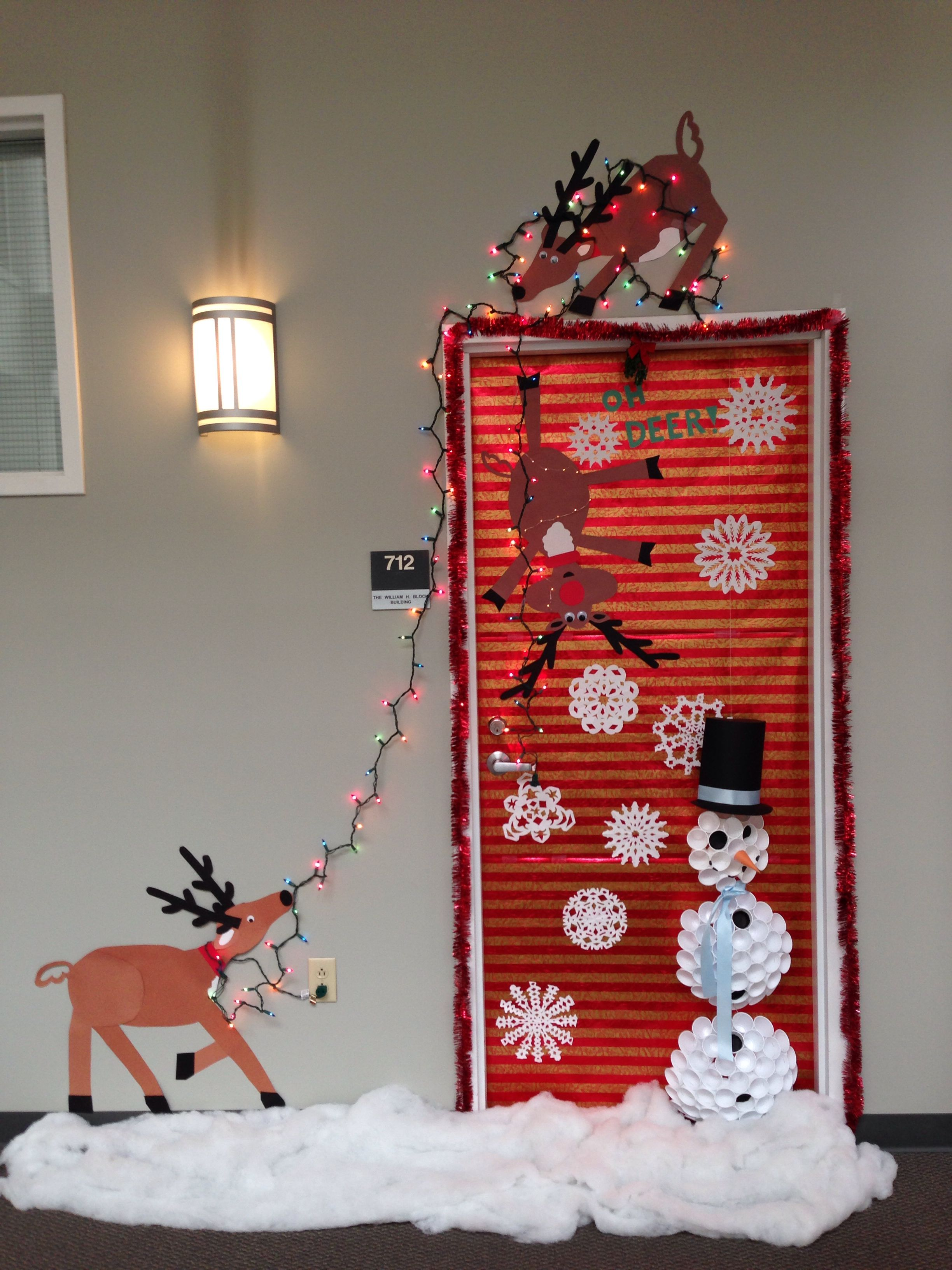 Construction Office Decorating Ideas Our Christmas Door Decoration First Place Made