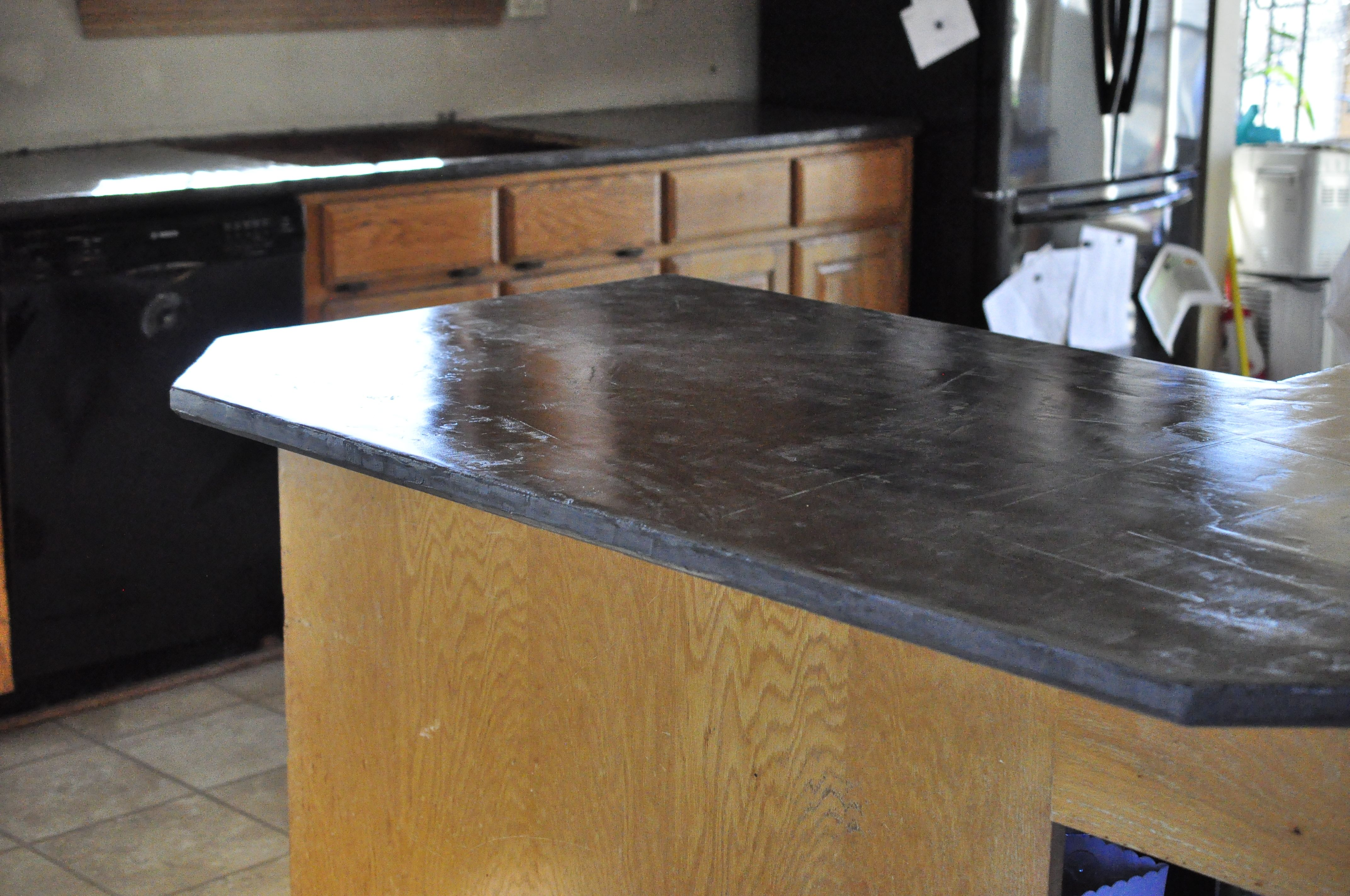 How Much For Concrete Countertops Faux Concrete Countertops Super Easy I Used Henry