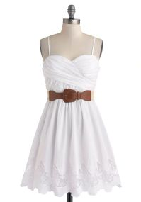 Country Craft Festival Dress - Cotton, White, Solid, Lace ...