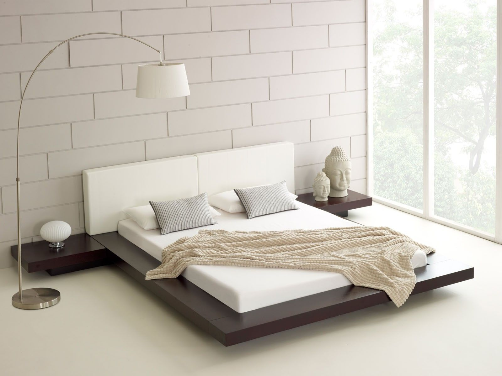 Asian Floor Mattress Contemporary White Japanese Bed Design With Unique White