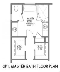 I like this master bath layout. No wasted space. Very ...