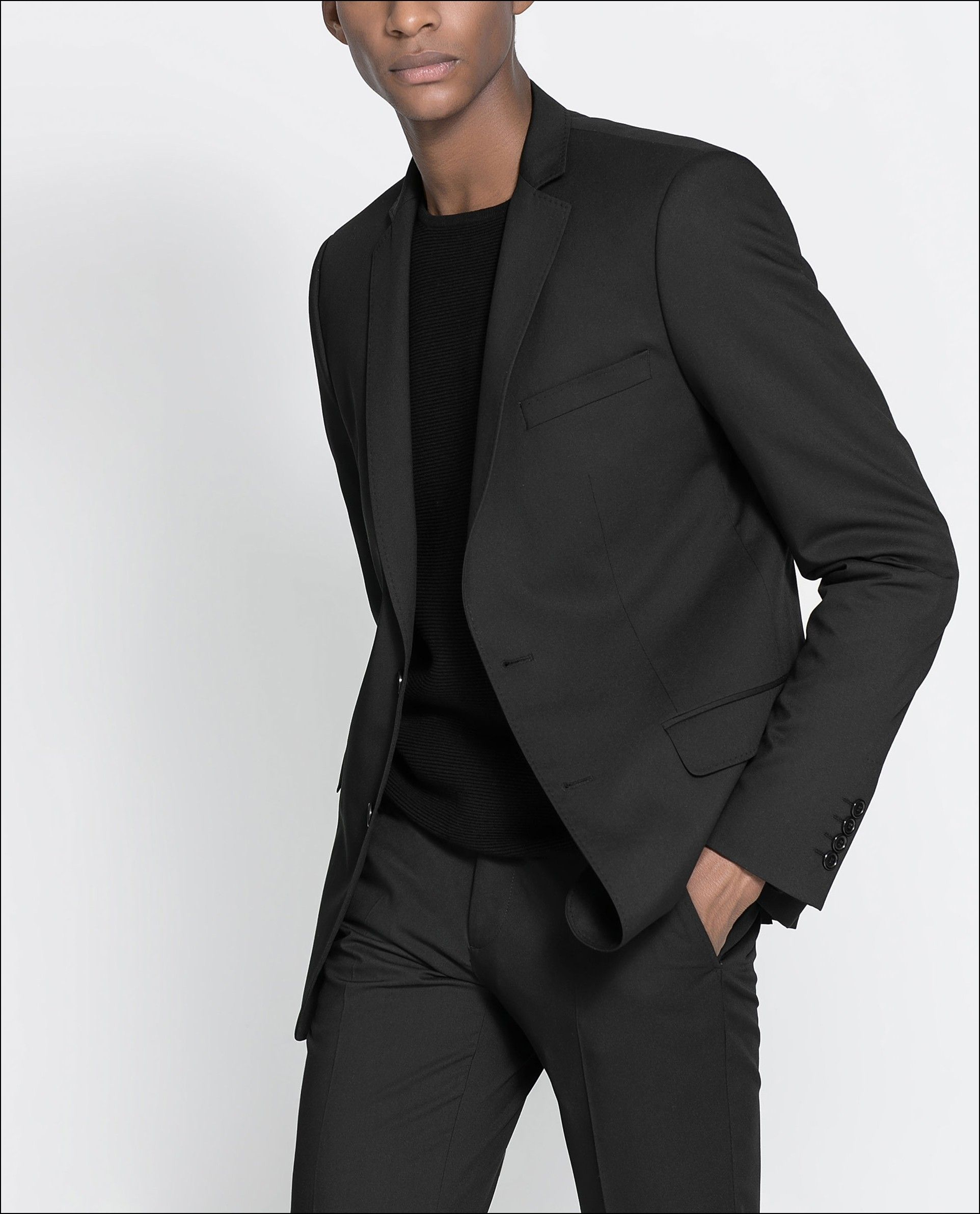 Grey suit with black t shirt google search