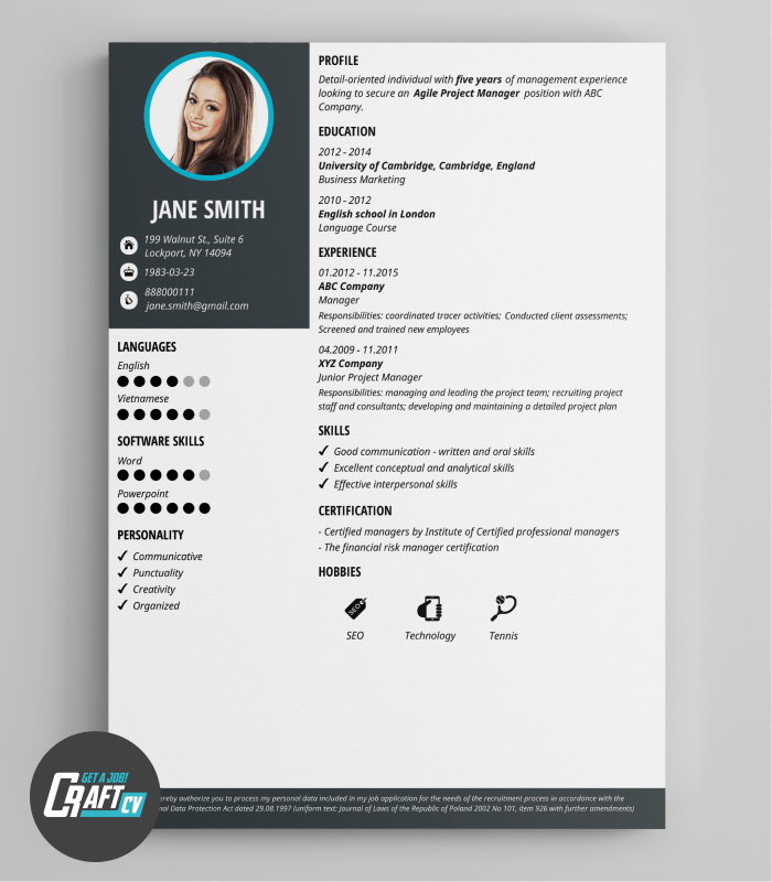 Example Of Resume Cv Latex Resumecv Templateexample Ted Pavlic Modern Cv Example Original Cv Layout Resume Templates