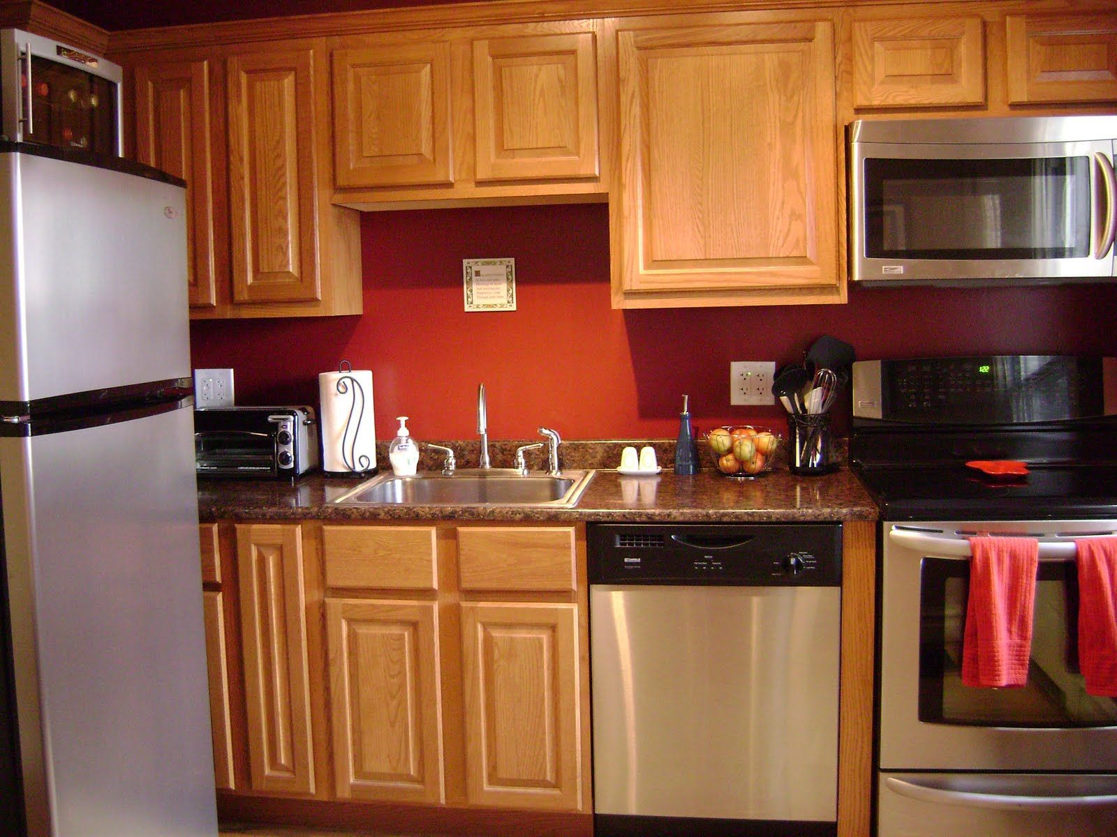 Colors Kitchen Cabinets Kitchen Wall Color Ideas With Oak Cabinets Design Idea