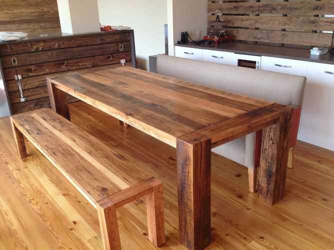 solid wood kitchen tables CUSTOM for Olivia and George Corner Spot Dining Table
