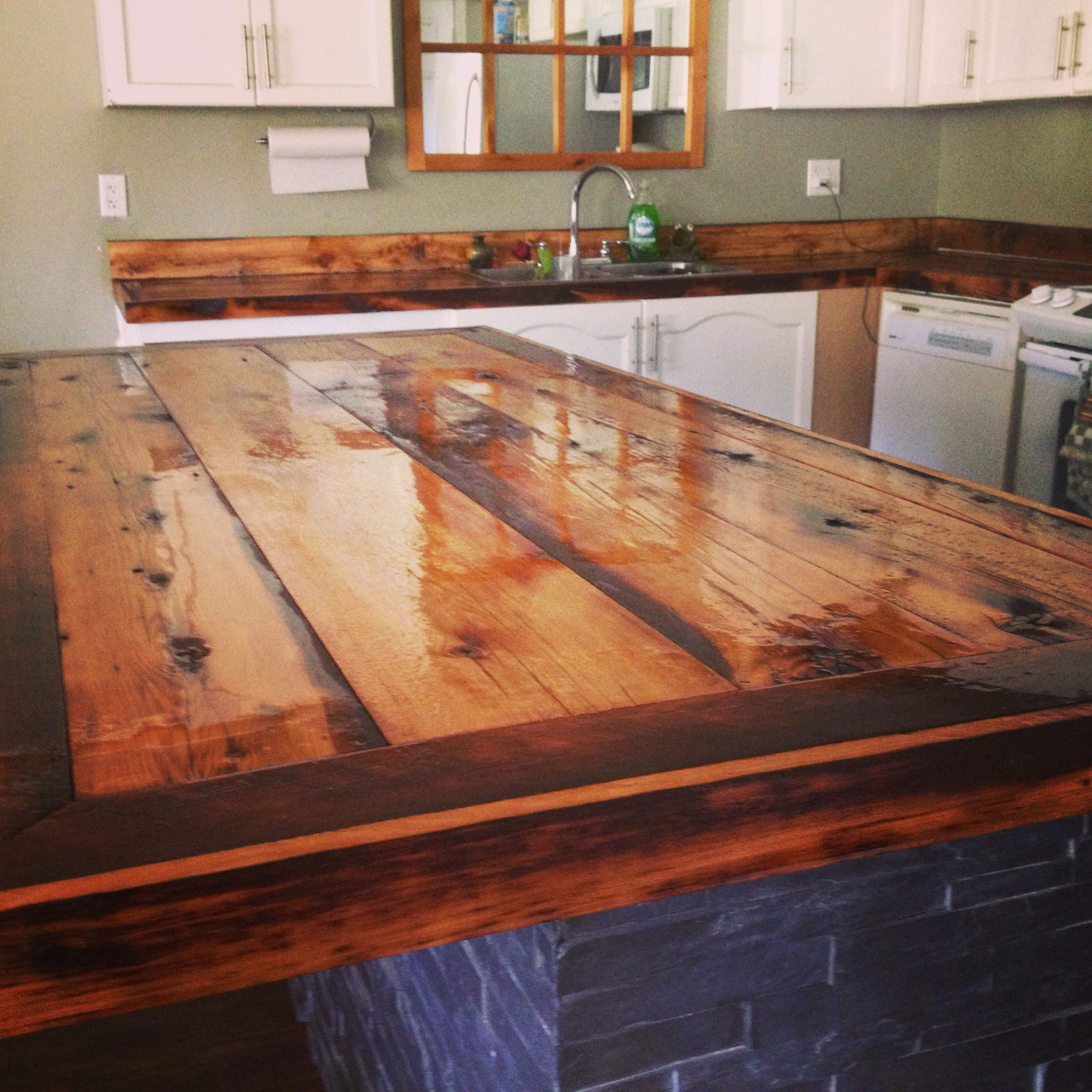 Kitchen Decorations For Countertops Diy Countertops Rustic Barn Board Kitchen Pinterest