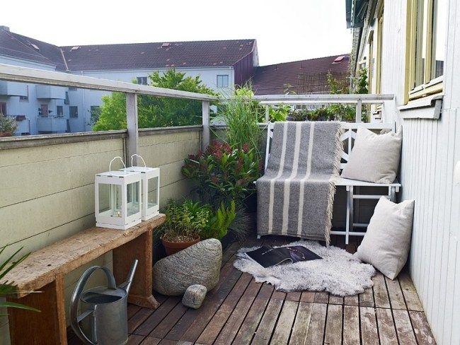 kleiner balkon gestaltungsideen leseecke skandinavisch kleine - mini balkon gestalten