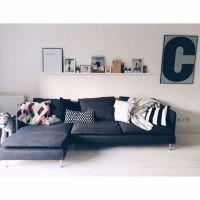 Ikea Soderhamn Modular Sofa in Dark Grey (3 seater no ...