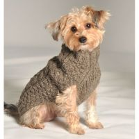 Small Dog Sweaters to Knit | Grey Cable Knit Dog Sweater ...