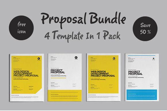 Proposal Bundle Template by fahmie on Creative Market Graphic - graphic design proposal template