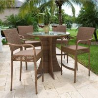 patio table chairs tall images | backyard patio ideas ...