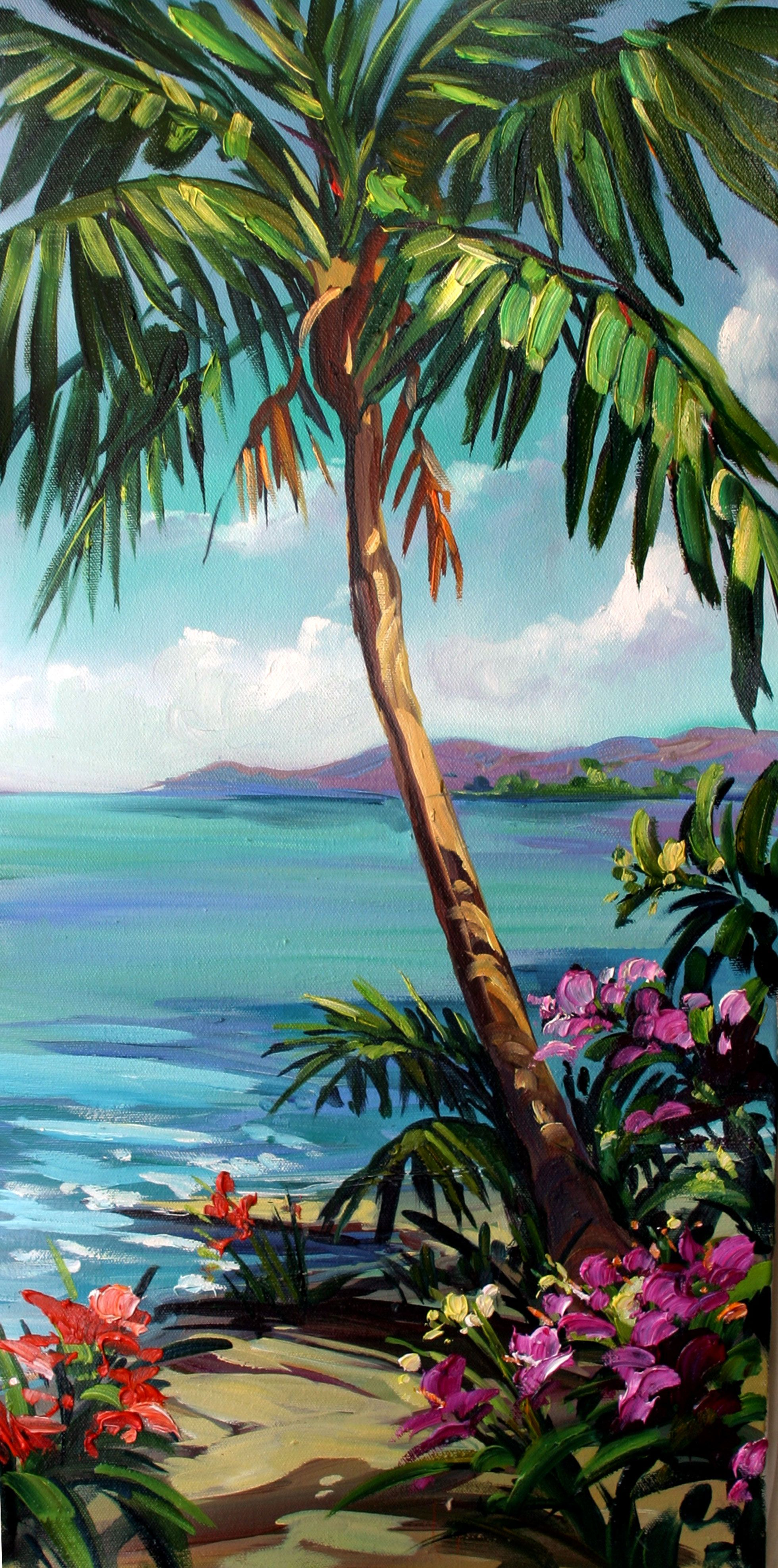 Tropical Artwork Quotcool Blue Quot By Steve Barton Size 12 Quot X 24 Quot Medium