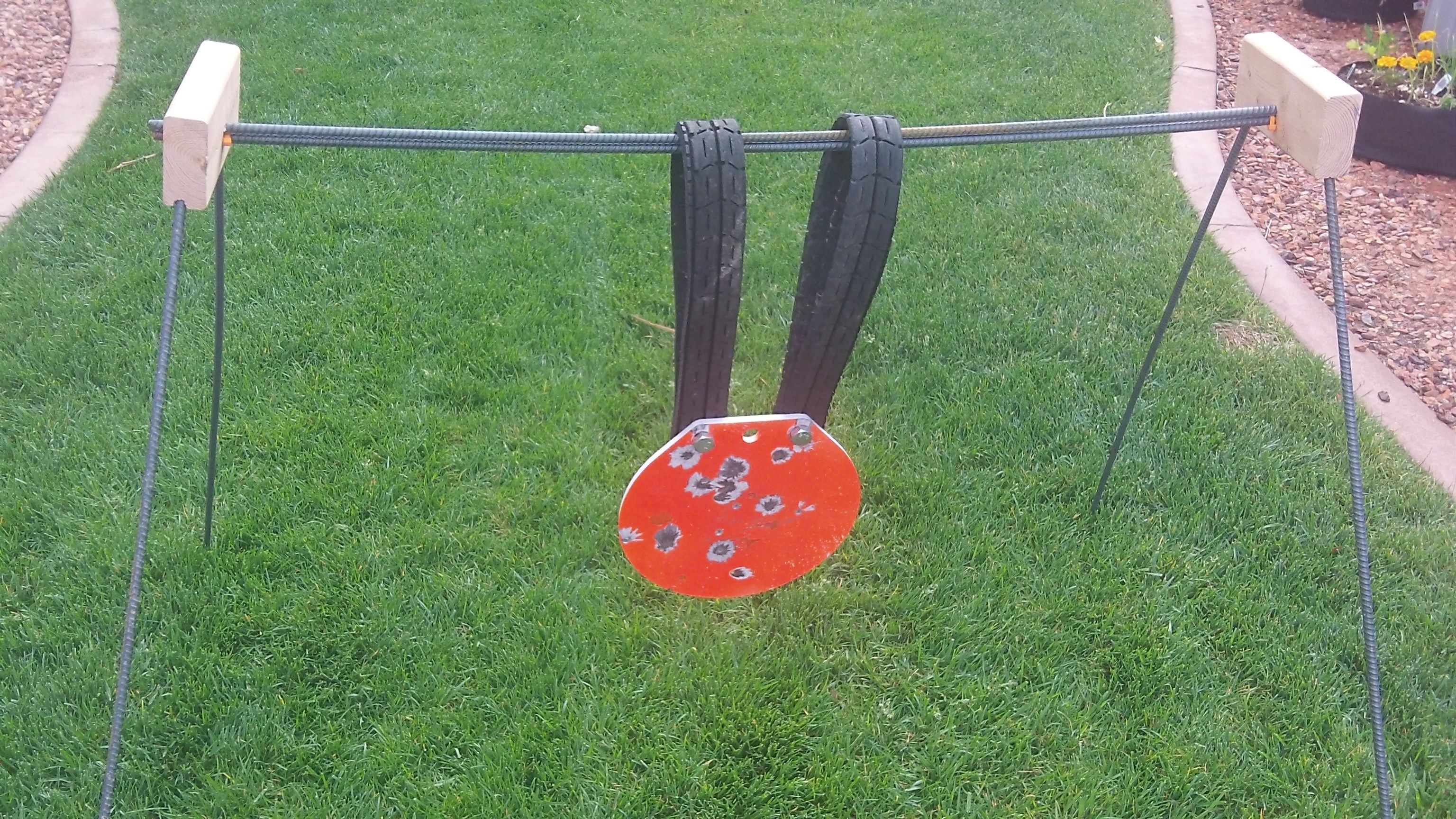 Steel Gong Target Stand Brackets Pictures To Pin On