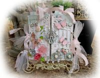 Shabby Chic Garden Gate Chipboard Mini Album Scrapbook ...