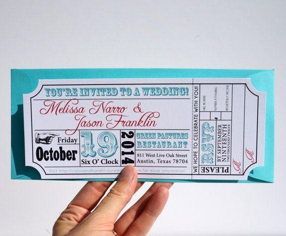 movie ticket wedding invitation template free - Google Search - ticket invitation