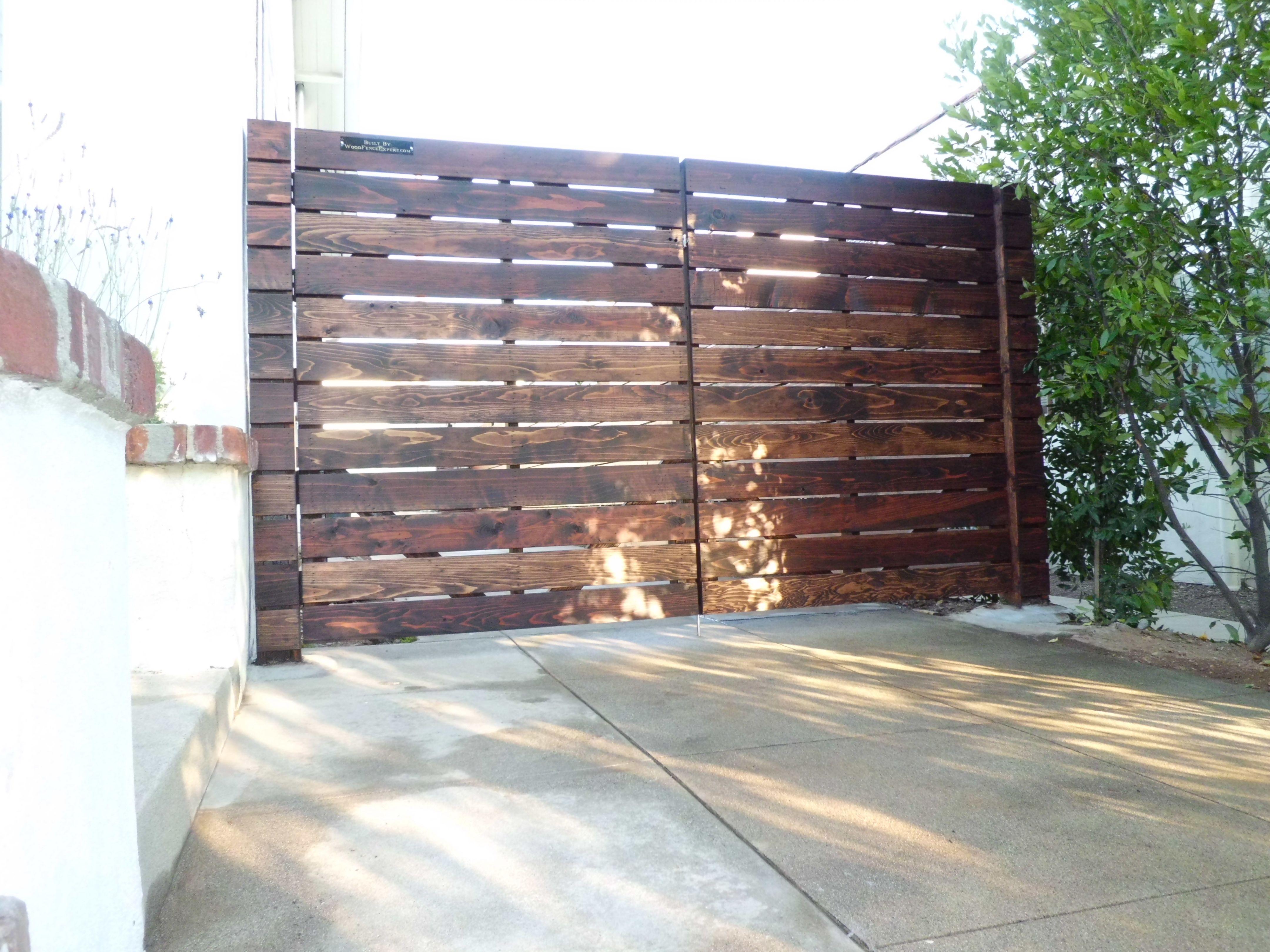 driveway gates modern horizontal fence design pinterest