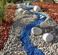 Colorful River Rock Garden | A Self-Made Rock River for ...