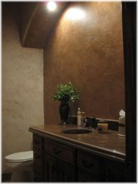 Metallic gold, silver and bronze paints add richness and ...