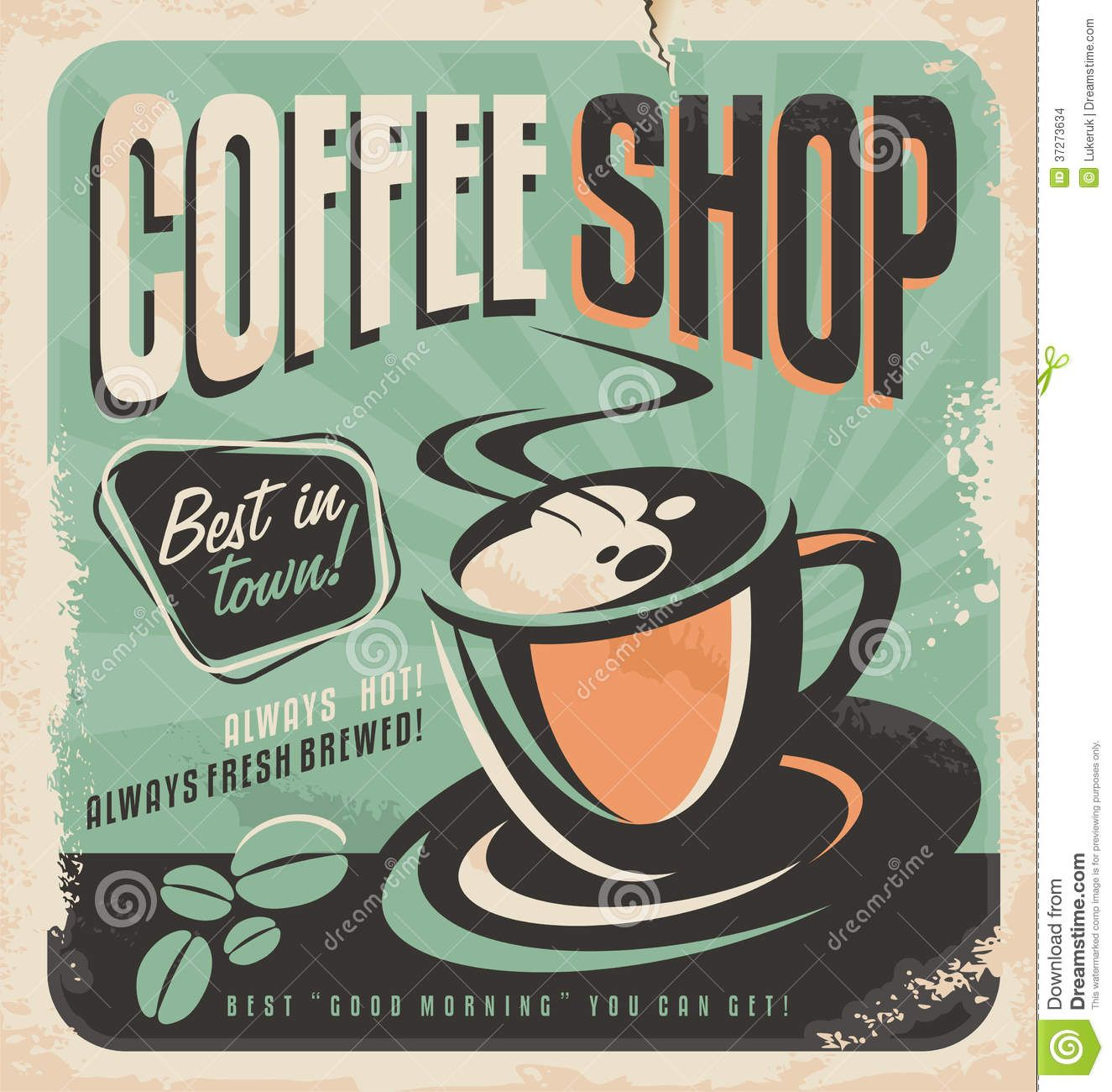 Kaffee Poster Retro Poster For Coffee Shop Coffee House Pinterest